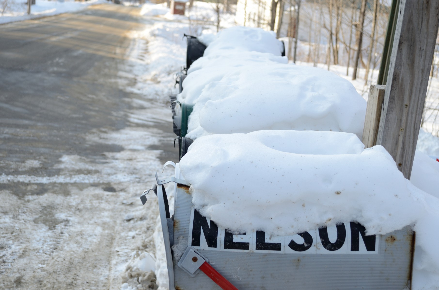 mailboxes in winter