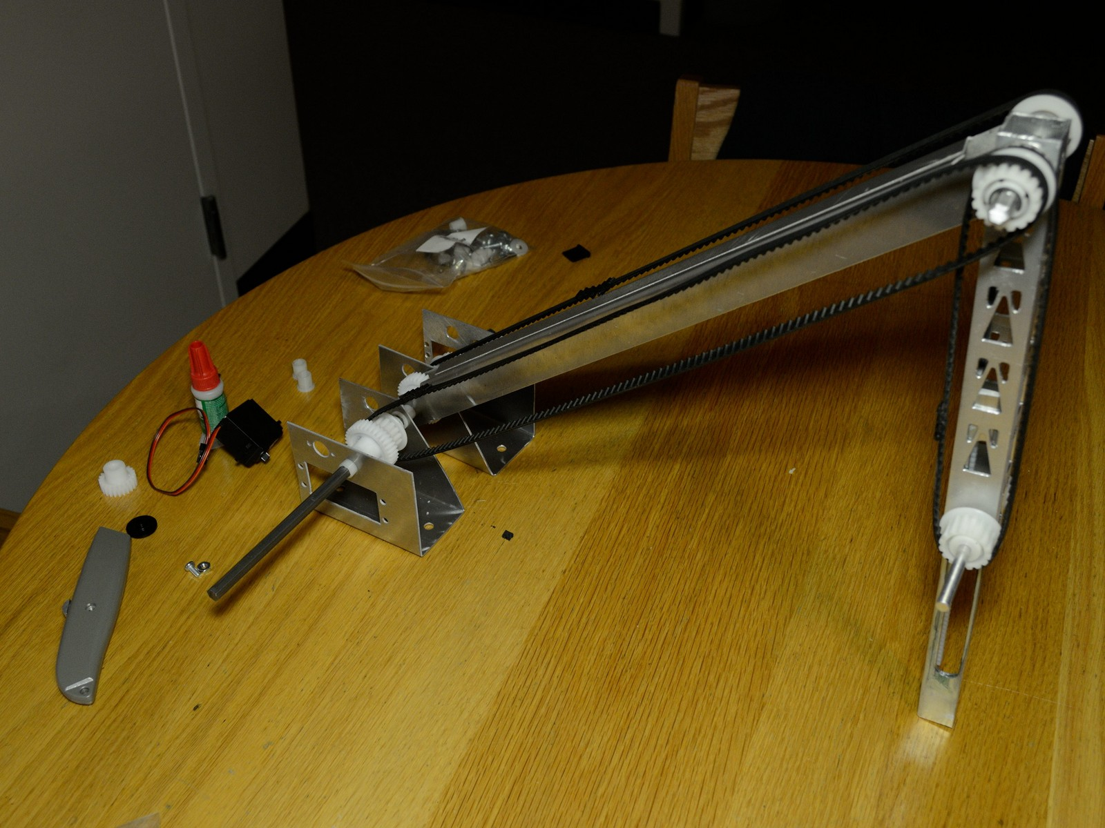 physical prototype of robot arm by ryan fish at mit