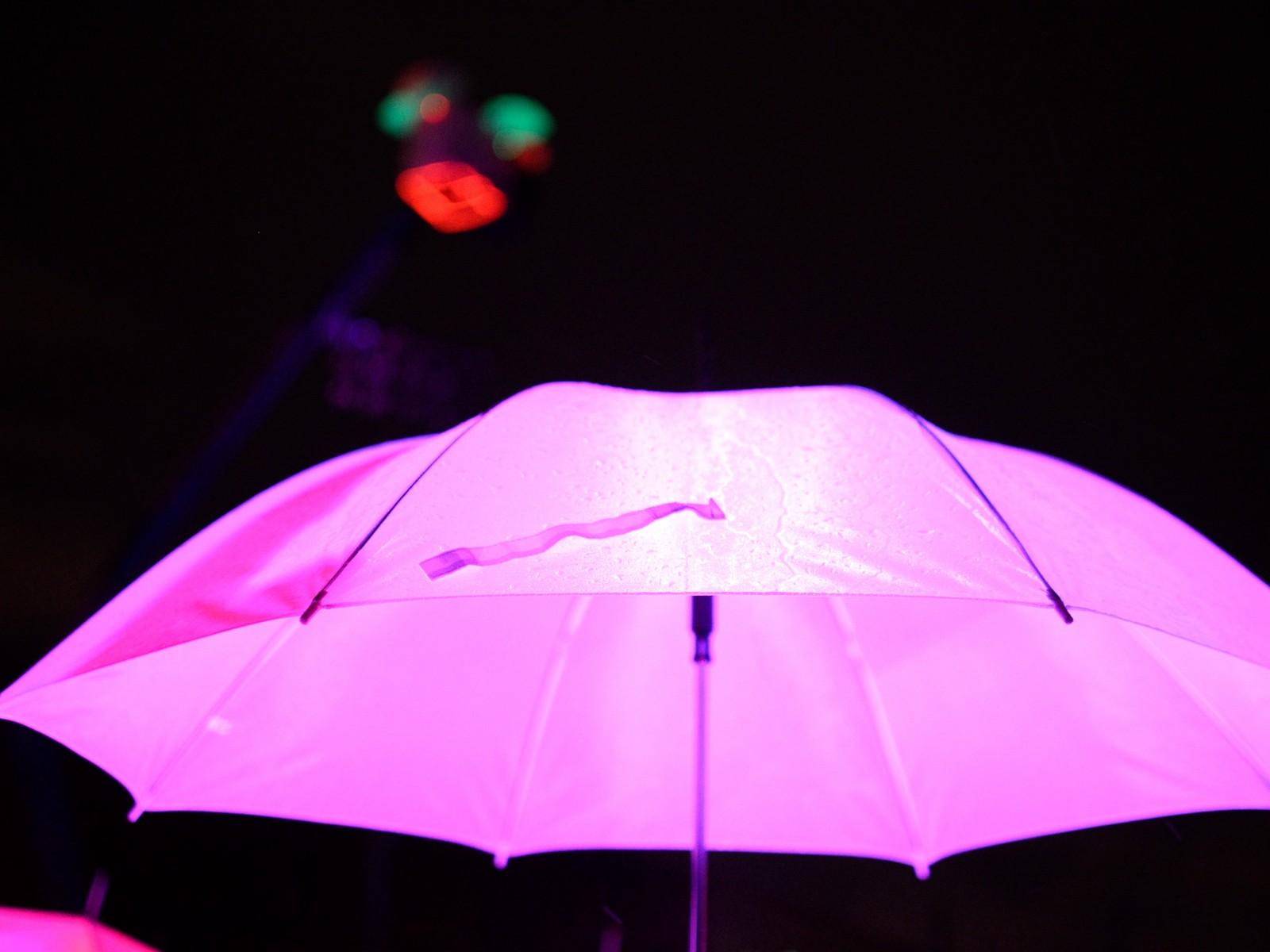 closeup of led umbrella project mit