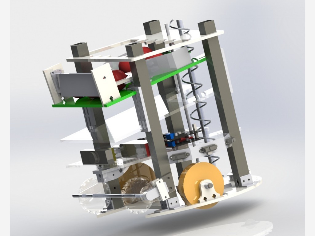 solidworks render of team 9 mit maslab robot