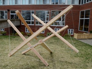 cubic tensegrity 6 beam next make cpw build