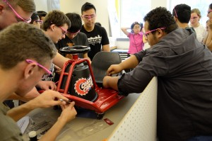 2.009 Pink Team dismantles electric go-kart